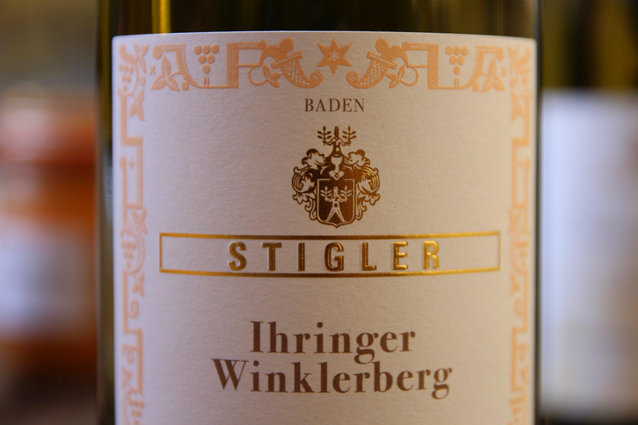 Flasche mit Etikett Ihringer Winklerberg