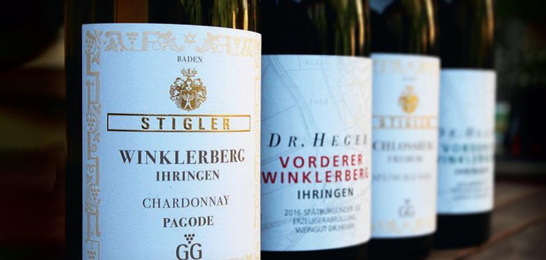 WeinNachbarn Weinflaschen Dr. Heger und Stigler
